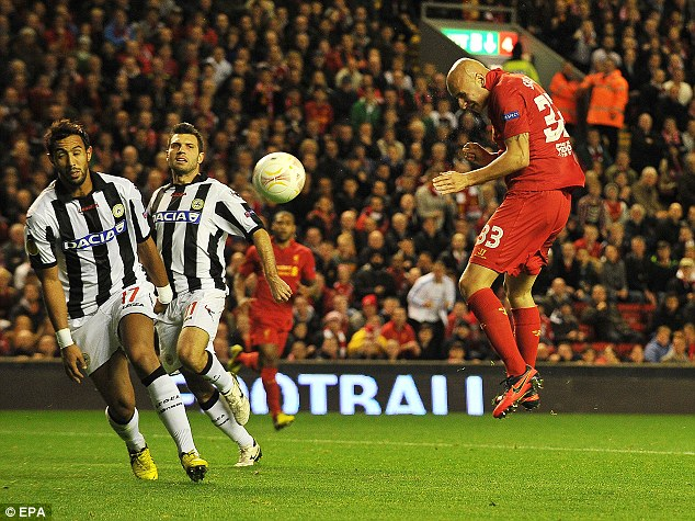 Built header: Shelvey heads home from inside the area