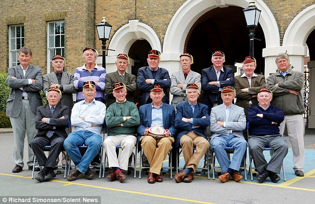 Reunited after 50 years: all 16 men flew from all over the world to pose for an exact replica of the shot taken in 1962