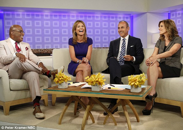 The Today team: Al Roker, Savannah Guthrie, Matt Lauer and Natalie Morales.But despite their smiles, they are losing the ratings war