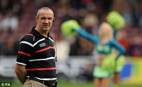 Send him to Rome: Harlequins Director of Rugby Conor O'Shea proved himself to be a perfect diplomat