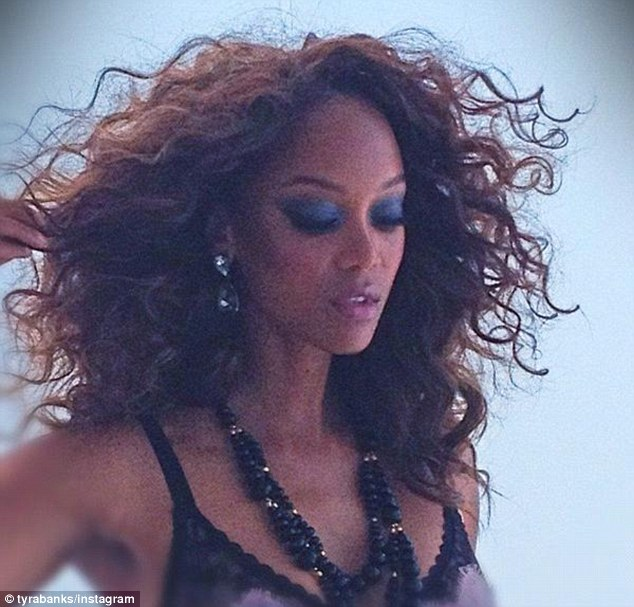 Supermodel status: The America's Next Top Model host was posing for AMICA magazine