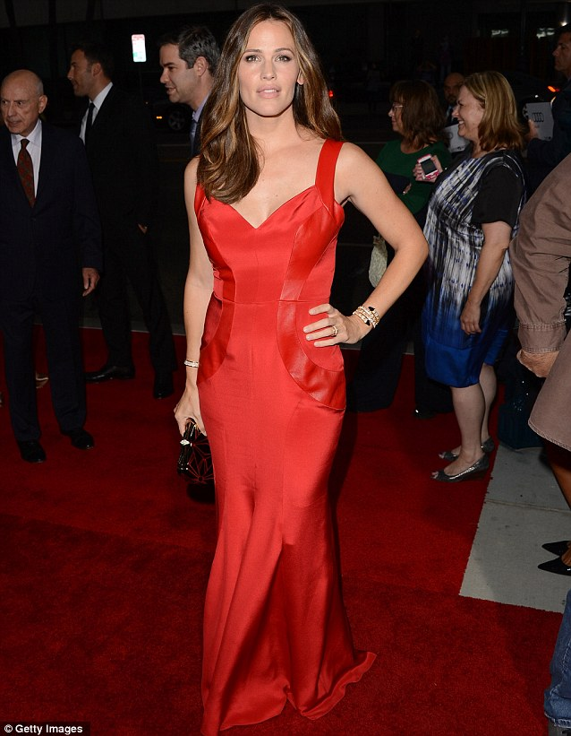 Sultry in red: Jennifer Garner stole the show at the Los Angeles premiere of Argo on Thursday night where she was supporting husband Ben Affleck who directs and stars in the film