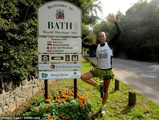 Ben Hammond, pictured outside Bath, is currently in Yeovil Hospital receiving treatment for cuts and bruises