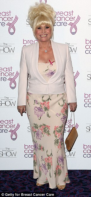 Actress Barbara Windsor arriving at the show last night