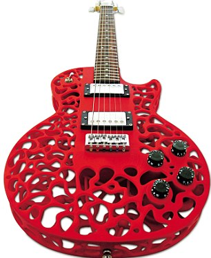 The Atom is fully customisable: you can choose your own pickups, tuning heads, necks etc
