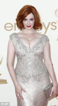 The actress dressed to show off her much-admired curves at last year's Emmy Awards