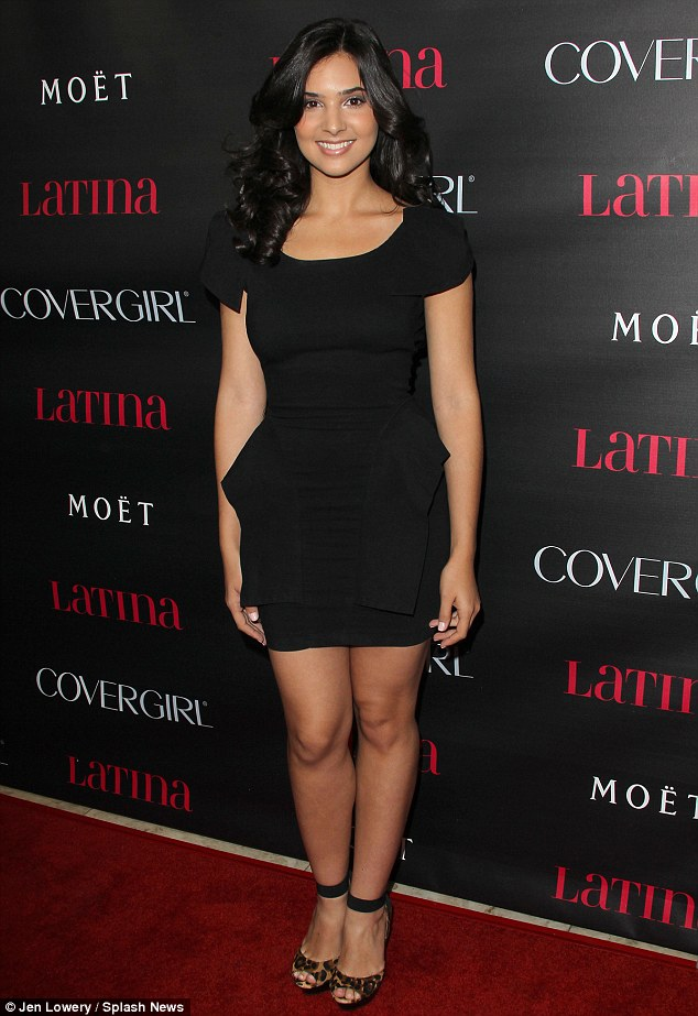 Red carpet look: Actress Camila Banus pairs her short black dress with leopard print heels