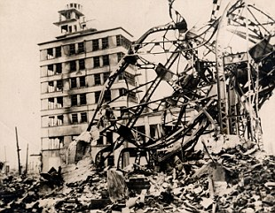 Hiroshima was flattened by the a-bomb
