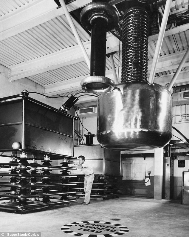 When the first bomb was tested at Los Alamos (pictured), Christy said everyone was pleased to have succeeded in the experiment