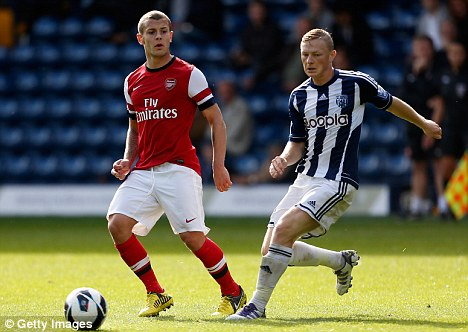 It's been a while: Jack Wilshere (left) returned to action earlier this week