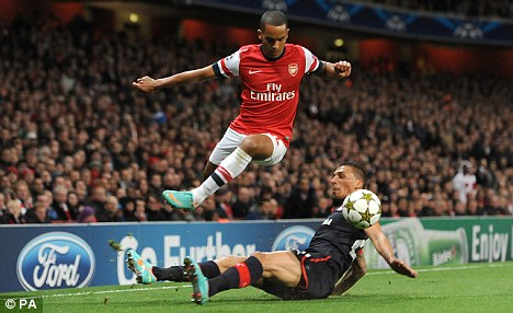 Flying winger: Arsenal's Theo Walcott is named in the latest England squad
