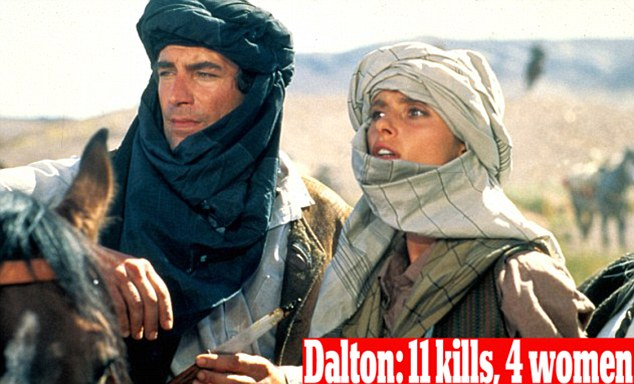 Bond number four: Timothy Dalton and Maryam D'Abo in the 1987 film The Living Daylights