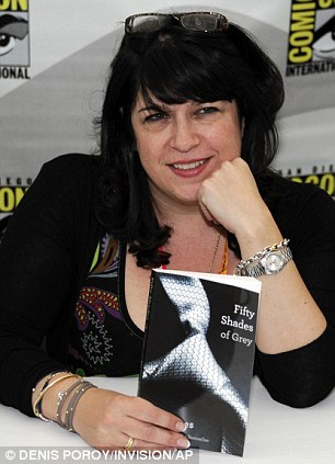 EL James with her novel Fifty Shades of Grey, which began life as online Twilight fan fiction