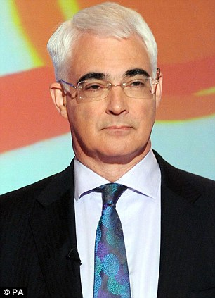 Opposed: Alistair Darling, pictured, said the current merger risked Britain's national interests