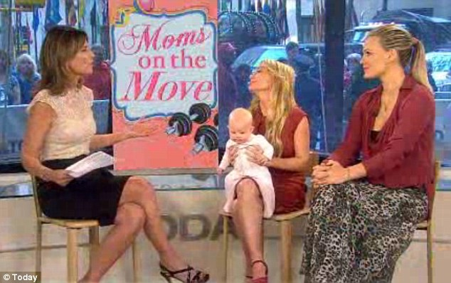 Moms on the move: Sims recently appeared on the morning talk show alongside celebrity trainer Tracy Anderson, whose DVDs cater to each month of a woman's pregnancy