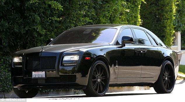 Nice ride! Becks had taken his Rolls Royce Phantom Platinum Motorsport out for a spin