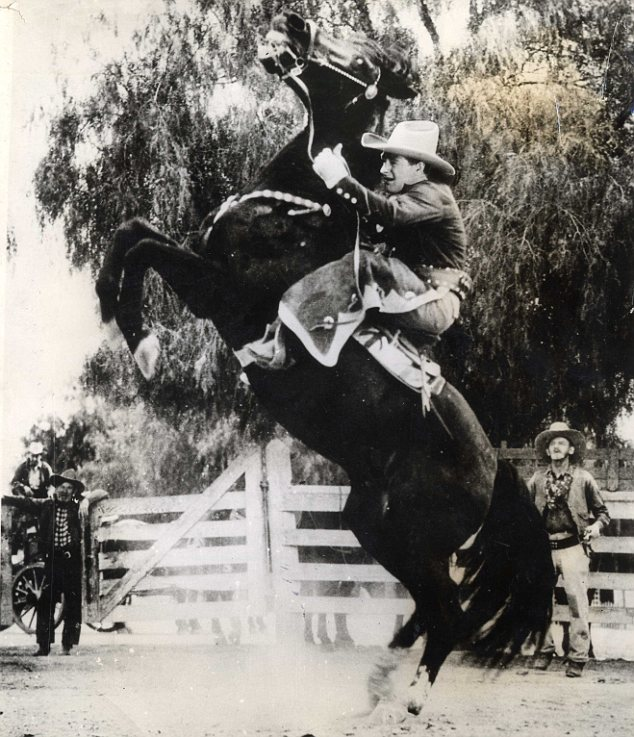 Star: Gehrig during the filming of Rawhide, a 1938 movie in which the sportsman played himself