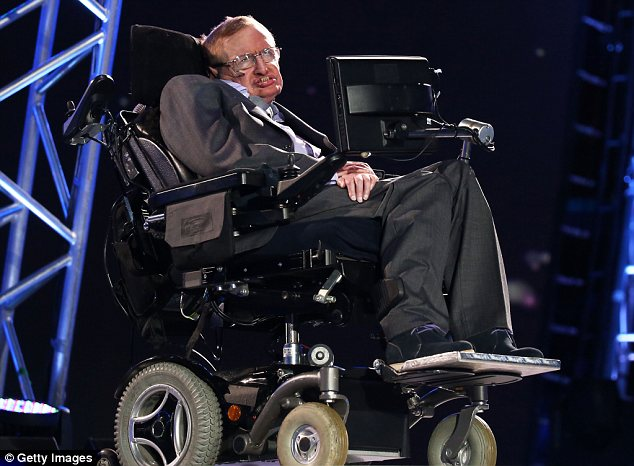Fellow sufferer: Physicist Stephen Hawking has a form of amyotrophic lateral sclerosis