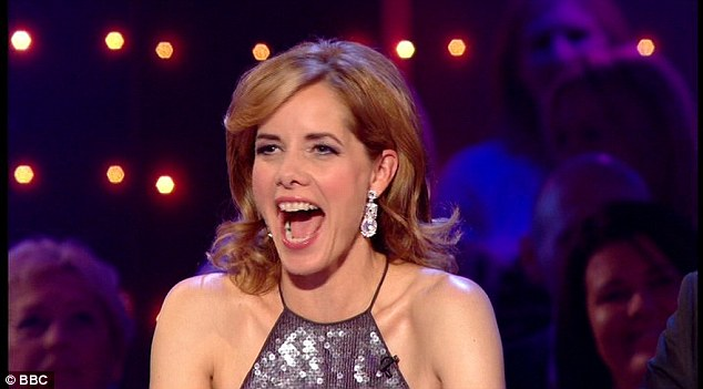 Making her mark: Darcey seemed like she was playing the friendly judge as she encouraged the stars and gave them constructive criticism