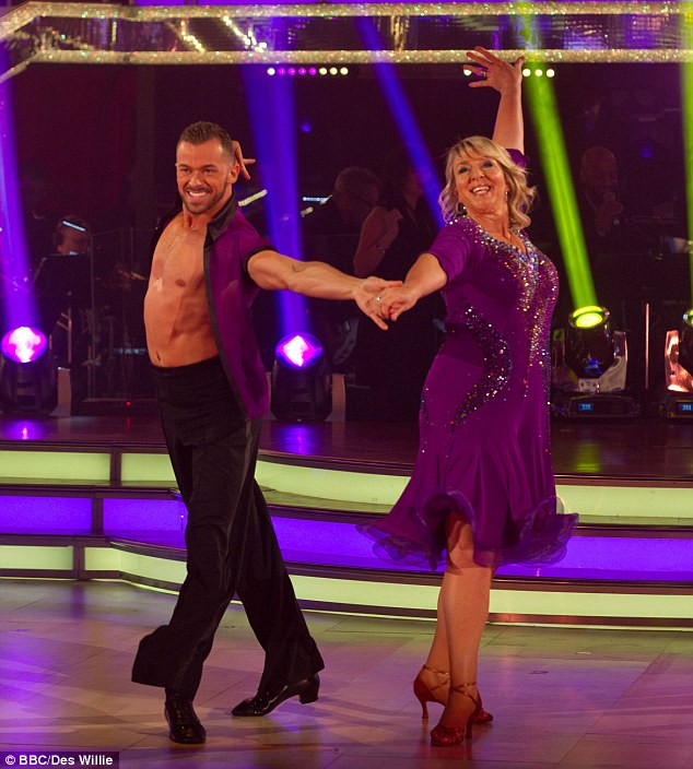 First up: TV presenter Fern Britton was the first to take to the dance floor and was berated by Craig Revel Horwood for 'wafting' her skirt too much