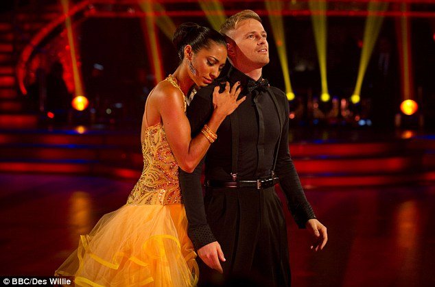 Scolded: Westlife's Nicky Byrne impressed with his moves but new dancer Karen Hauer was told off by Craig for adding a lift in to the dance and thus breaking a rule