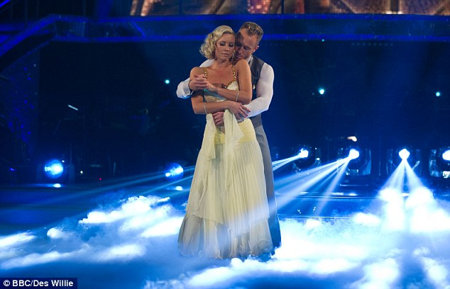 'The best til last': Denise Van Outen was last on stage and ended up rocketing to the top of the leader board with her moves
