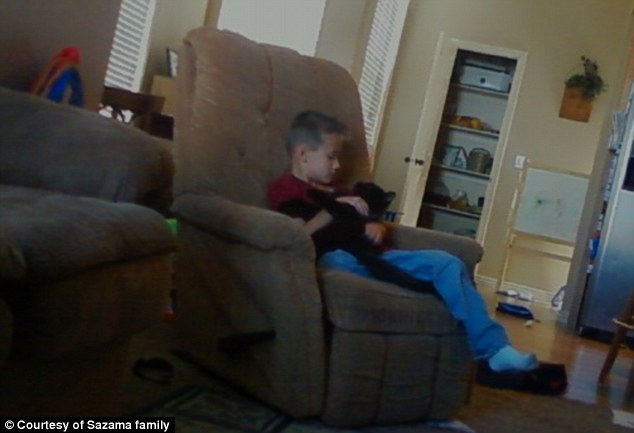 Boy's best friend: Describing his cat as his best companion who he'd easy carry around the house, Rayden called Toothless his best friend