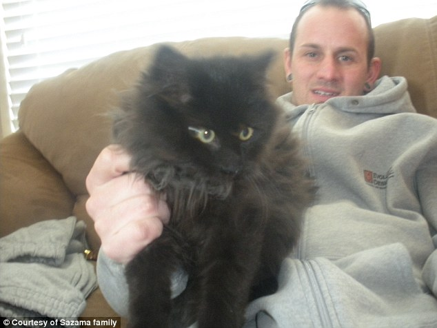Toothless: Rayden's father Jason Sazama is seen holding Toothless, who was mistakenly killed by animal shelter workers after a note was forgot to be placed on his cage