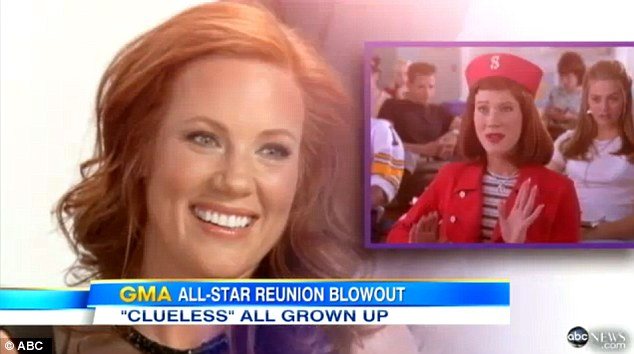 All grown up:  Elisa Donovan  played Amber, Cher¿s fashion follower best known for her 'whatever' gesture