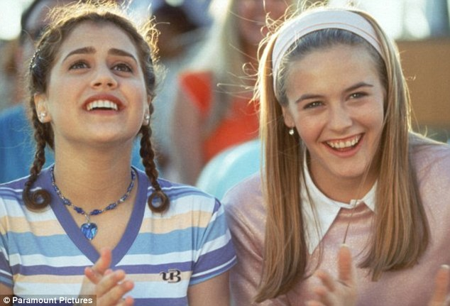 Under her wing: A young Brittany played newbie Tai in the movie, whom Cher schools in all things cool