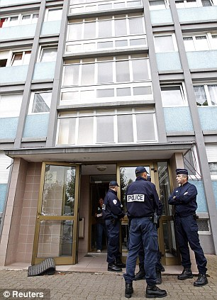 Dawn raid: Police raided the building in the Esplanade suburb of Strasbourg in the early hours on Saturday morning
