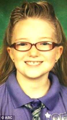 Gone: Jessica Ridgeway, 10, went missing Friday morning after leaving her Westminster, Colorado, home to go to school
