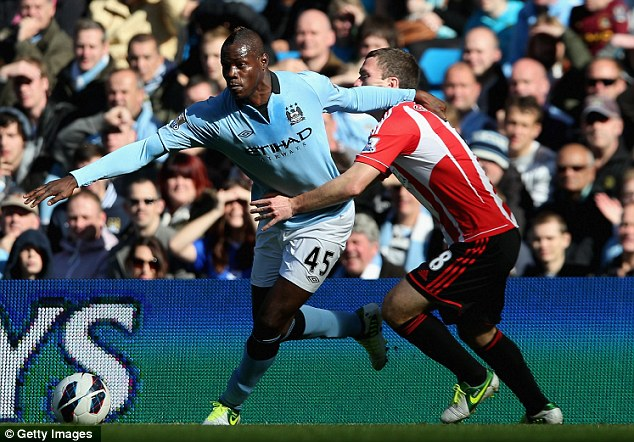 Frustrated: Balotelli was unhappy with the treatment he received from the Sunderland players