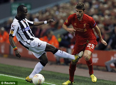 Time to deliver: Fabio Borini has yet to score for Liverpool in the league