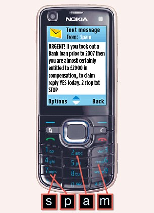 Remember: Forward texts to 7726 to help network providers track down the cheats