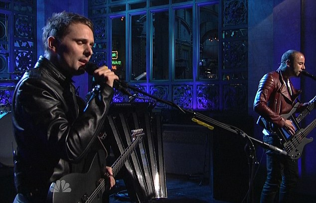 Ready to rock: British band Muse were the musical guests