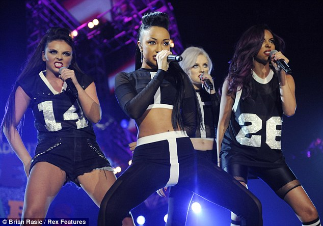 Going down: Little Mix performed during the ceremony, although they missed out on an award