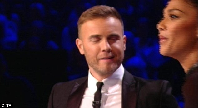 Pals: Barlow insisted recently that the four judges are all friends