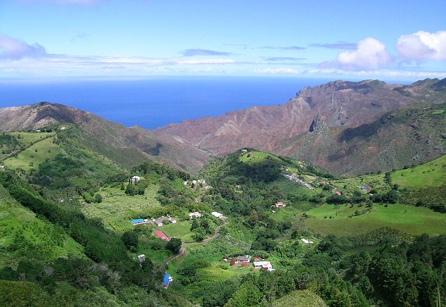Sandy Bay from the Peaks, St Helena Tourism