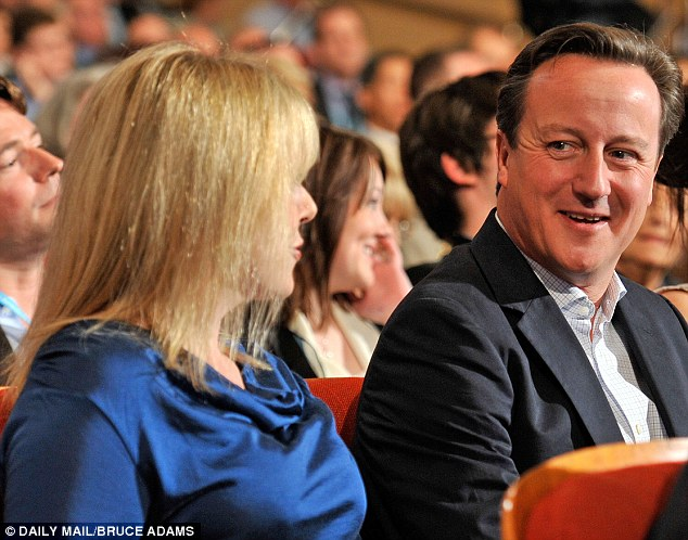 Crucial week: David Cameron, pictured with William Hague's wife Ffion, is under pressure to reassure Tory activists without appearing to abandon the political centre ground
