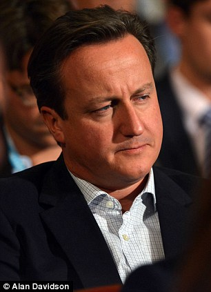 The Prime Minister looks drowsy at the Conservative party conference