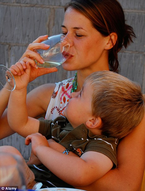 Mothers' ruin: But just under a fifth of mothers and fathers questioned in a recent survey said they thought drinking made them a better parent