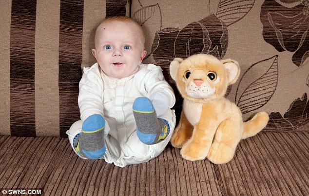 Friends: The little boy cannot play with his favourite toys without his protective mitts on