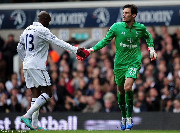 Not just yet: Andre Villas-Boas says Hugo Lloris (right) is not his No 1