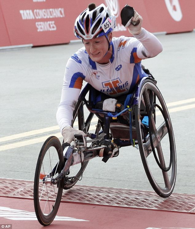 Tatyana McFadden of the USA won the women's wheelchair division