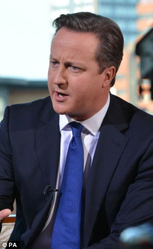 Unchanged: The Prime Minister has said he is still determined to reduce the deficit