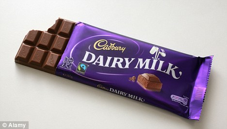 Food chain: The farm shown in the film supplies milk to Cadbury, which makes 250million bars of chocolate each year