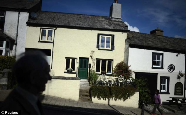Hidden past: Romney did not visit the area his family are from when he came to Britain in July