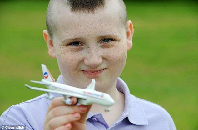 Liam Corcoran-Fort said he climbed on to the Jet2 plane looking for a toilet after slipping away from his mother near to Manchester Airport