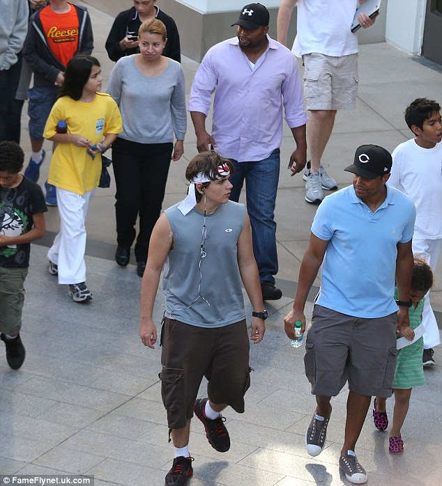 Day of fun: The group were accompanied by their guardian TJ who also brought along his own kids